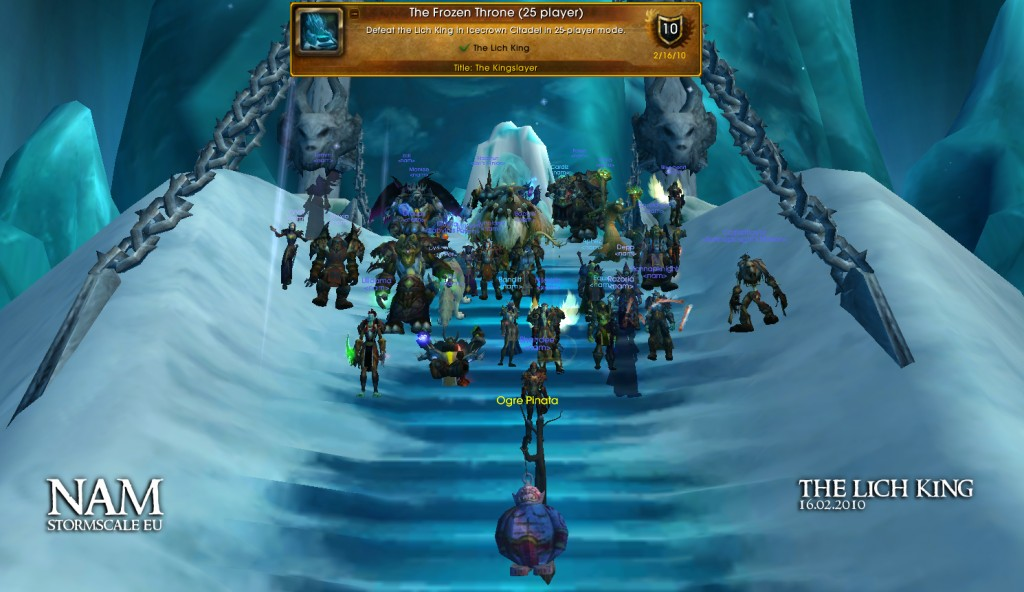 Possible the first time since Nefarian we have all posed for a screenshot.